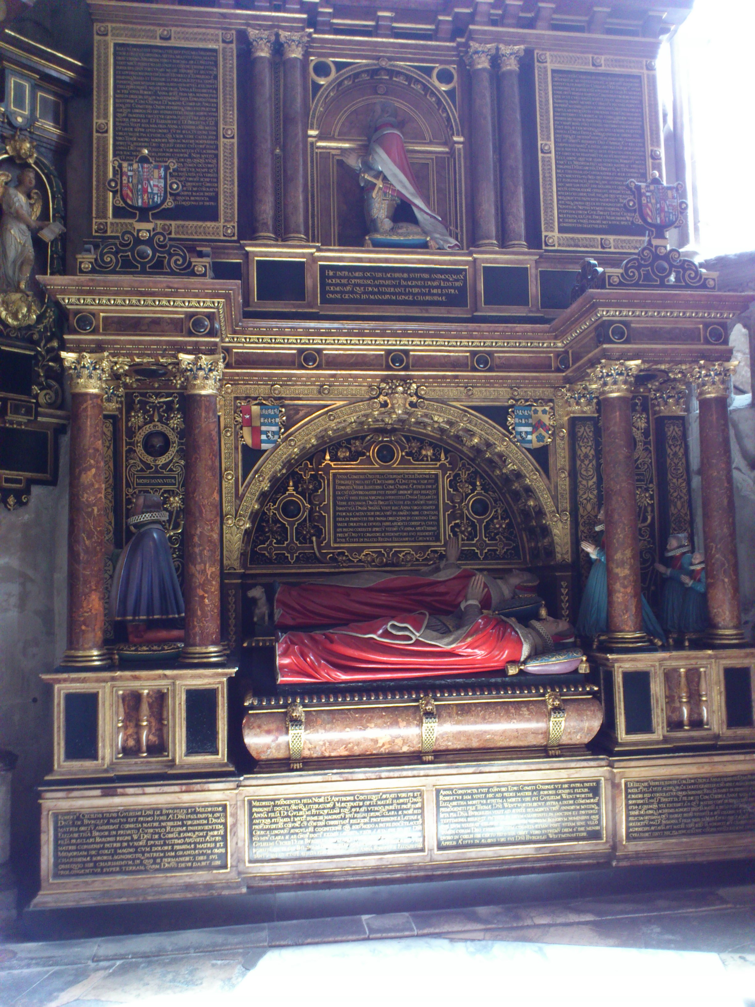 1 Hr Photo >> Cecil tomb at Westminster Abbey