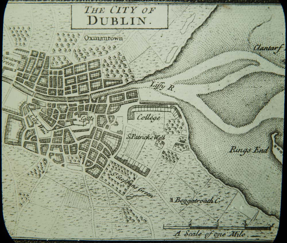Baggotrath Castle Dublin - Old maps of dublin